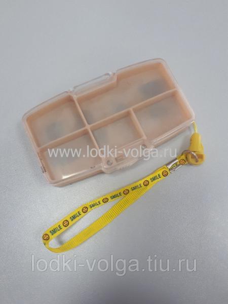 Коробка для мормышек (2-х сторонняя с веревкой), бежевый