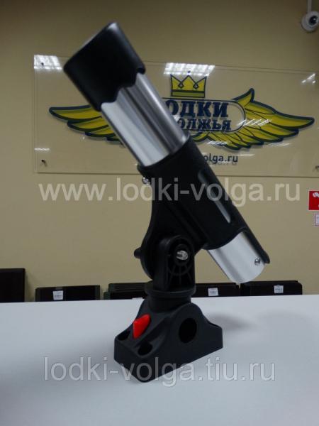Подставка под удочку черная/серебрянная в комплекте с креплением CFMT303 (CFRH301)