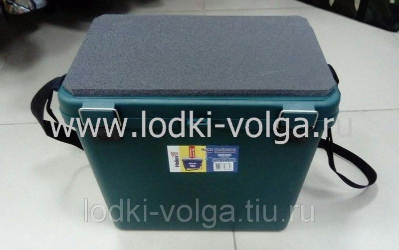 Ящик рыболовный Тонар, пластиковый, односекционный, зеленый