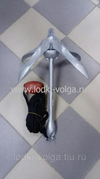 Якорь чугунный 6 кг с доп. комплектацией