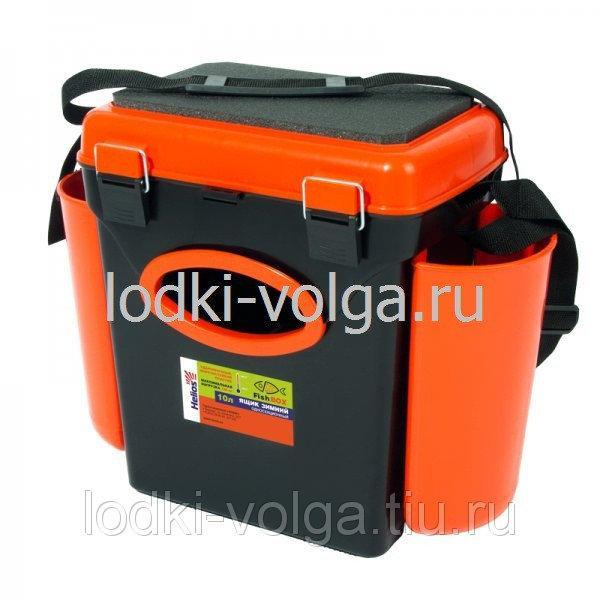 """Ящик зимний """"FishBox"""" 10л, односекционный, оранжевый"""