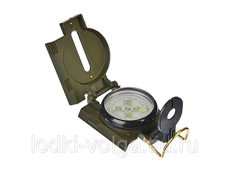 Компас Чингисхан жидкостный армейский, металл, 7,5х5,8х2,5см