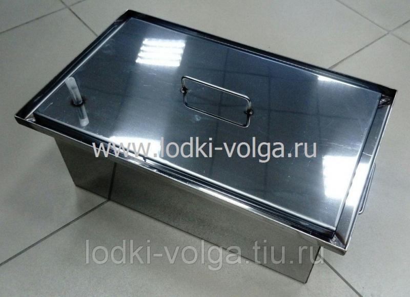 Коптильня, Профи т.2,0 мм 450*250*200, гидрозамок