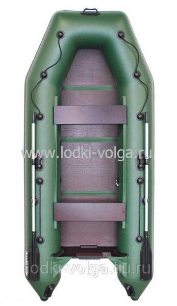 Лодка Аква 3200 Слань-книжка Зелёная