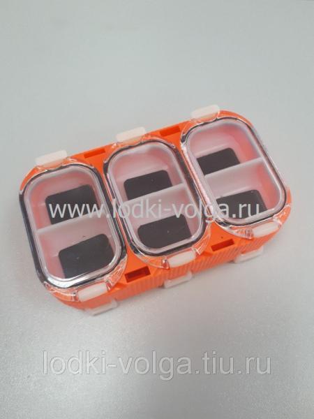 Коробка для мормышек (2-х сторонняя съемная), оранжевая