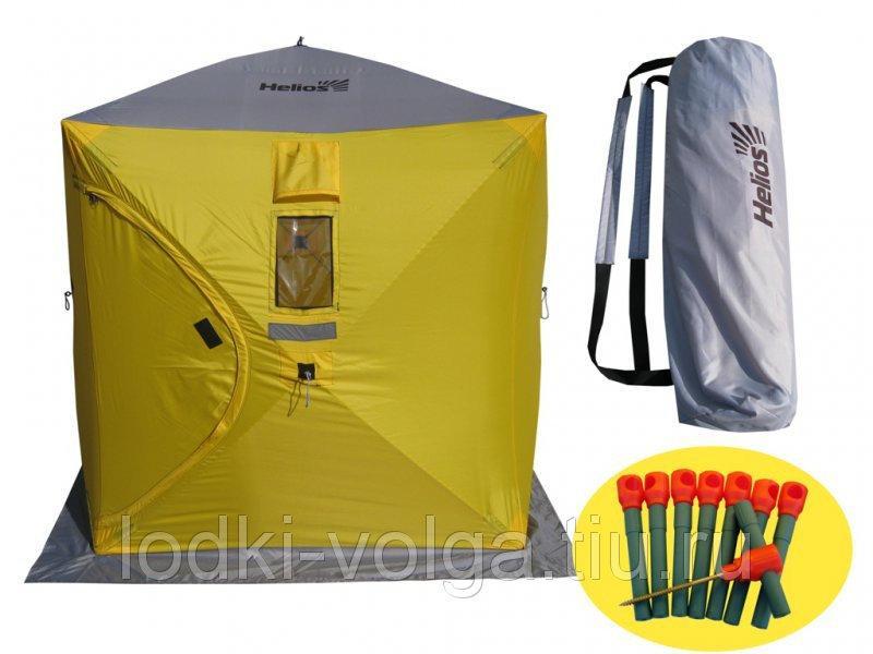 Палатка зимняя куб 1,5х1,5 (желто-серый) Helios