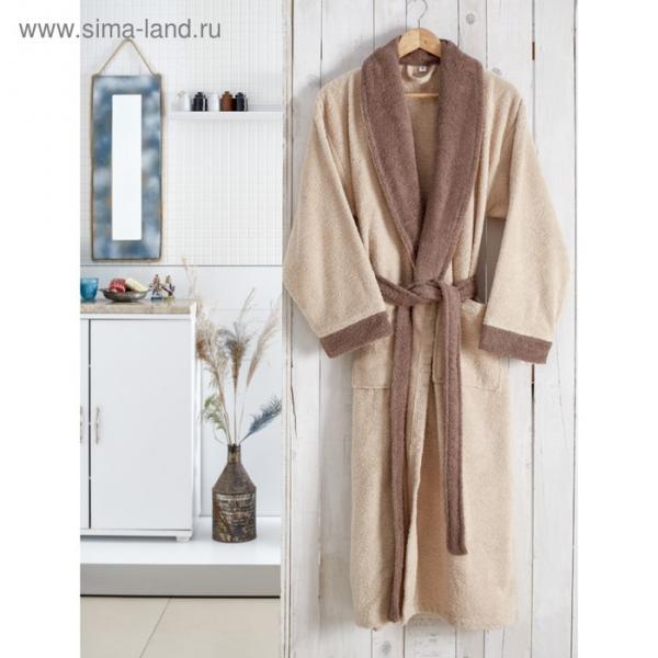 Халат махровый Adra, размер L/XL, цвет бежевый, 350 г/м2