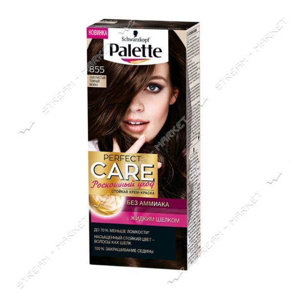 Palette Краска для волос Золотистый темный мокко 855
