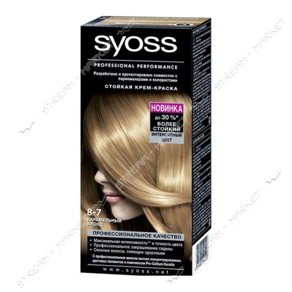 Syoss Краска для волос Карамельный блонд 8-7