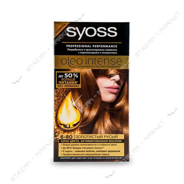 Syoss Oleo Intense Краска для волос Золотистый Русый 6-80