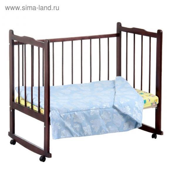 Одеяло детское, размер 118*118 см, цвет голубой 11-360Тм