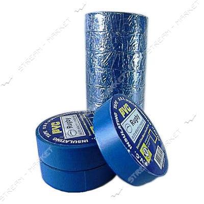 Изолента ПВХ Rugby 19х0, 13мм 30 м синяя
