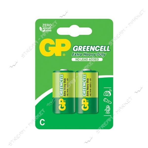 Батарейка GP Greencell солевая C/R14 ('средний бочонок') (уп.2 шт. цена за уп.)