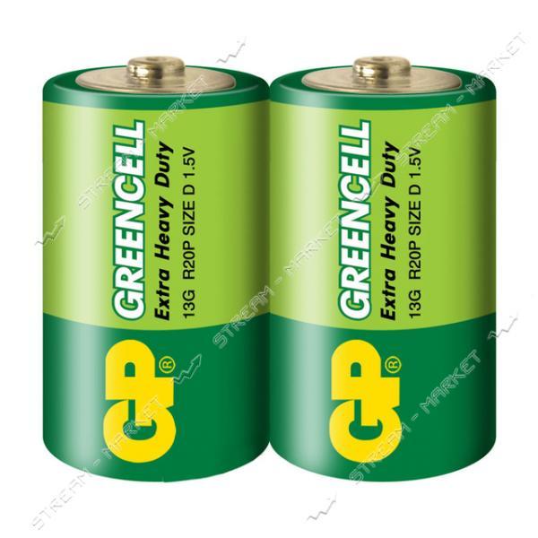 Батарейка GP Greencell солевая D/R20 ('большой бочонок') (уп.2 шт. цена за уп.)