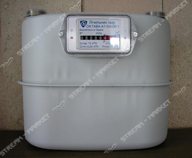 Газовый счетчик ОКТАВА мембранный G6 d32