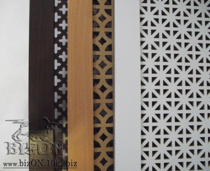 Фото Решетки ПВХ и Экраны МДФ для радиаторов отопления и декора Декоративный экран на батареи «ОНТАРИО», 600 х 300 мм, из перфорированного ХДФ (МДФ), цвет – Арктик (белый)