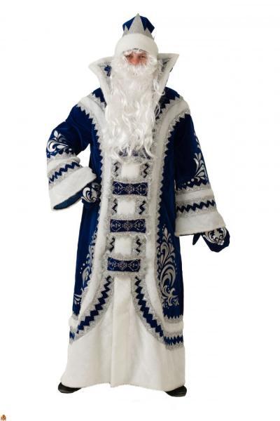 Карнавальный костюм Дед Мороз Купеческий Синий