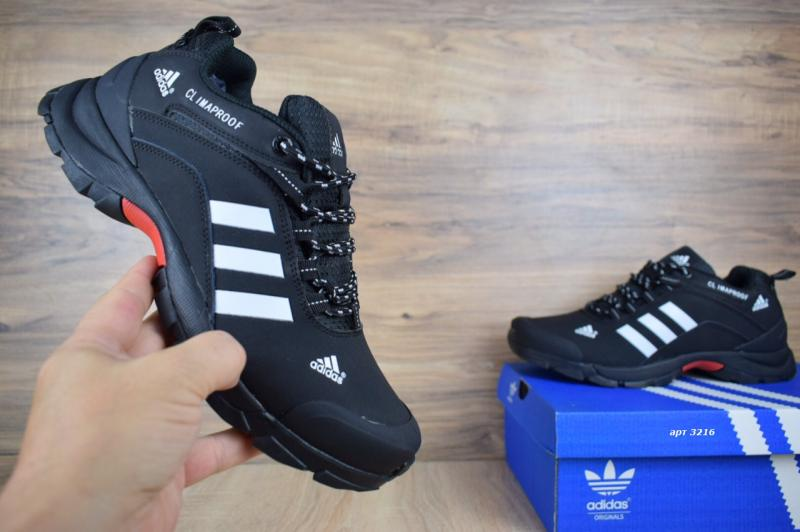 Фото  Adidas ClimaProof Black White (41-45)