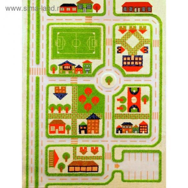 """Ковёр игровой """"Трафик"""", размер 160х230 см, цвет зелёный"""