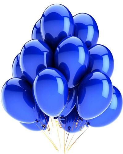 "Воздушный шар металлик 12""/30 см (10 шт.) №7-синий"