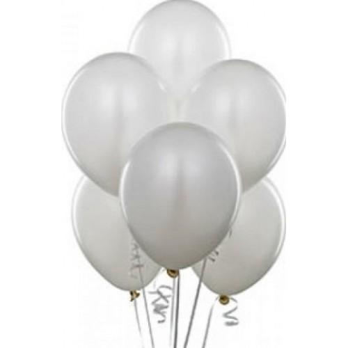 """Воздушный шар пастель белый 16""""/40 см (10 шт.) №30"""