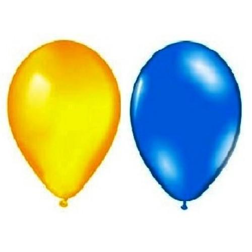 """Воздушный шар металлик """"Лампочка"""" 10""""/25см. (перламутр, синие, желтые 100 шт.) №4"""