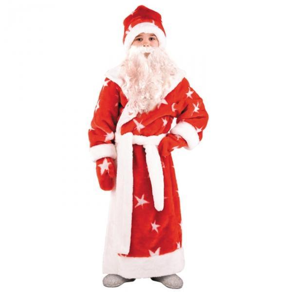 Карнавальный костюм Дед Мороз красный мех детский