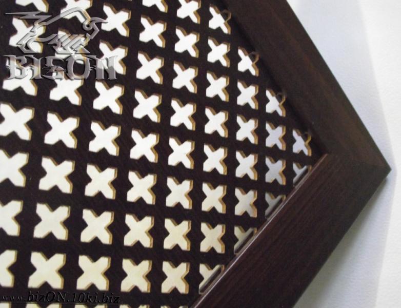 Декоративный экран на батареи «КОЛУМБИЯ», 1200 х 600 мм, из перфорированного ХДФ (МДФ), цвет – Венге (темно-коричневый)