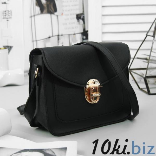 Сумка женская, отдел на молнии, наружный карман, регулируемый ремень, цвет чёрный купить в Гродно - Женские сумочки и клатчи