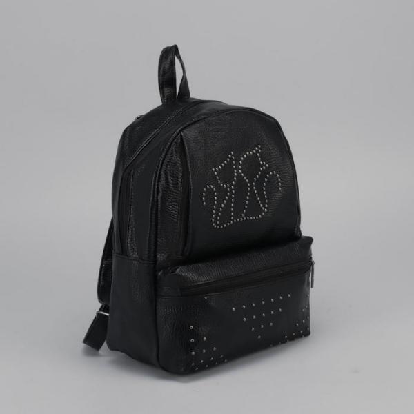 """Рюкзак молодёжный """"Кошечки"""", отдел на молнии, 2 наружных кармана, цвет чёрный"""