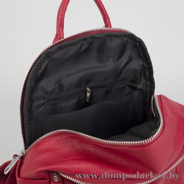 Фото Галантерея, Рюкзаки , Рюкзаки молодежные Рюкзак молодёжный, 2 отдела на молниях, 4 наружных кармана, цвет красный