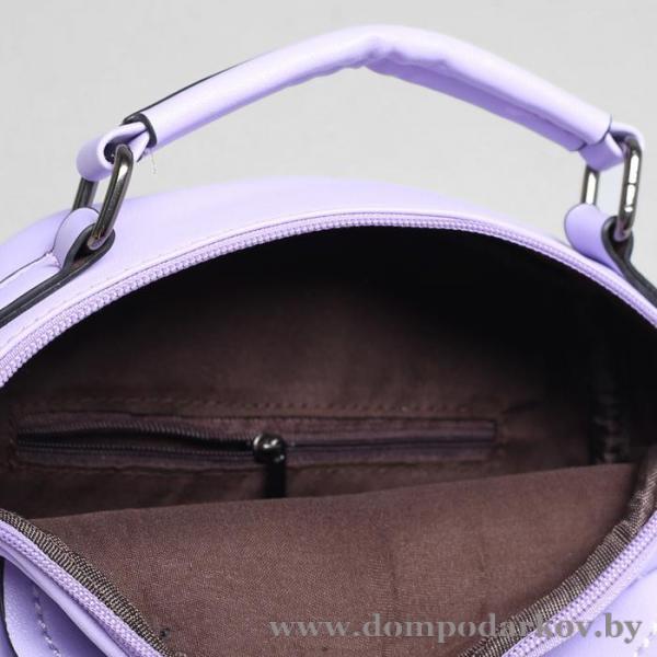 Фото ПОСМОТРЕТЬ ВЕСЬ КАТАЛОГ, Галантерея, Рюкзаки , Рюкзаки молодежные Рюкзак-сумка на молнии, 1 отдел, 2 наружных кармана, цвет сиреневый