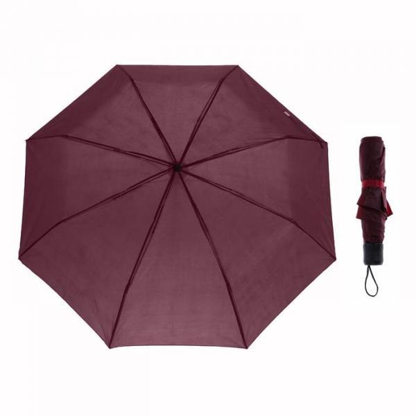 Зонт механический, R=48см, цвет бордовый