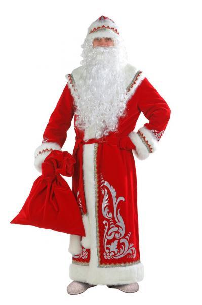 Карнавальный костюм Дед Мороз аппликация красный