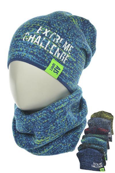 Детские шапки для мальчиков. Набор шапочка-бини + шарф-снуд 36AJS136 Польша