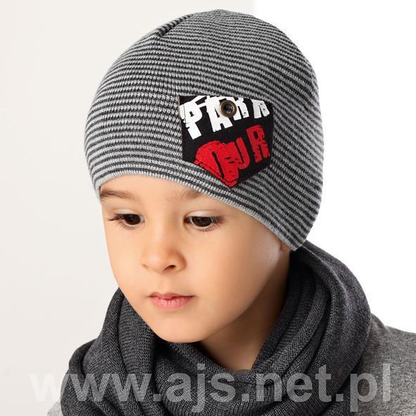 Детские шапки для мальчиков 36AJS066 Польша
