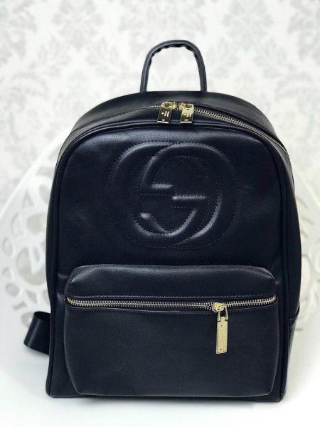 Рюкзак реплика в стилеGucci логотипы большой черный бордовый