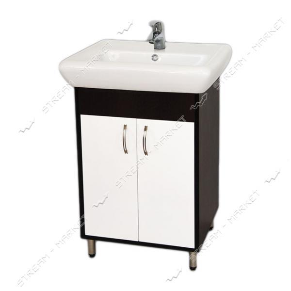 Тумба для ванной комнаты венги Ирида Венги 60 умывальник Ирида 60