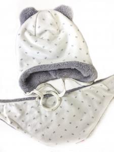Фото Шапки, перчатки, наушники, шарфы ЗИМА. Шапка девочке + шарф 48-50рр