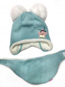 Фото Шапки, варежки, перчатки, наушники, шарфы МАЛЬЧИКАМ И ДЕВОЧКАМ ЗИМА. Шапка_ шарф для девочки