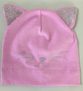 Фото Шапки, варежки, перчатки, наушники, шарфы МАЛЬЧИКАМ И ДЕВОЧКАМ Шапка. трикотаж Кошка от 3 до 6 лет
