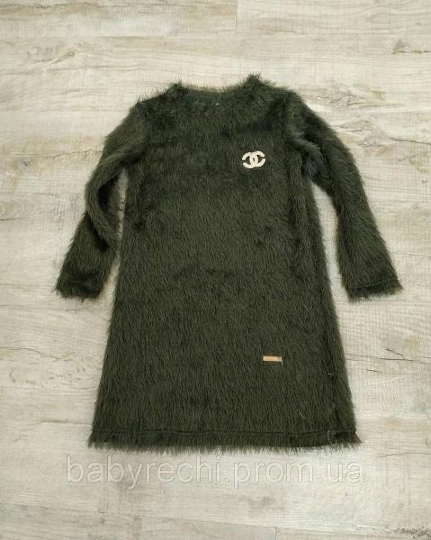 Теплое платье туника для девочки 128-152