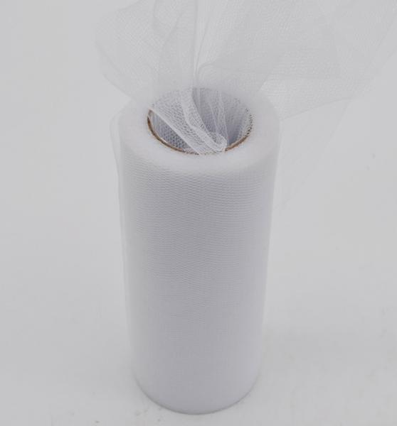 Фатин  ширина  15 см.   Белого  цвета .