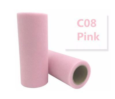 Фатин  ширина  15 см Светло-розовый цвет