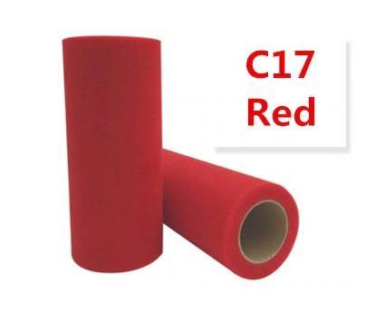 Фатин  ширина  15 см.   Красного  цвета .
