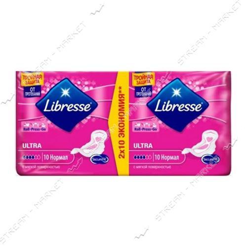 Libresse Прокладки гигиенические Ultra Normal Soft 4капли 20шт