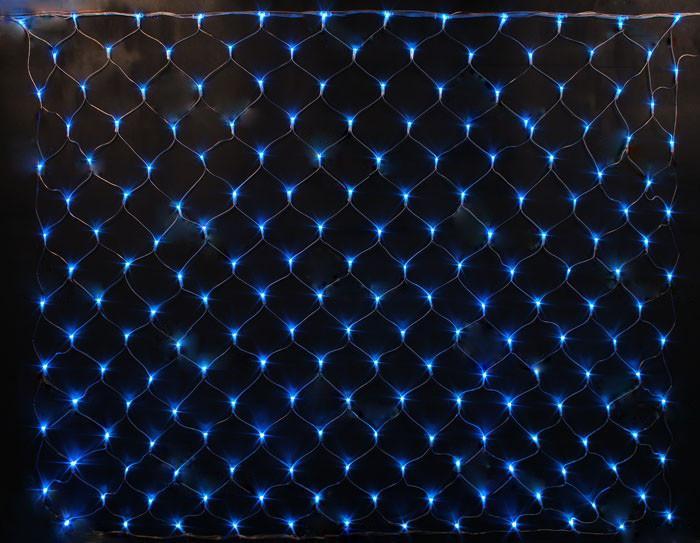 Гирлянда электрическая сетка LED 160 (1,5*1,5м) разные цвета разные цвета Синий