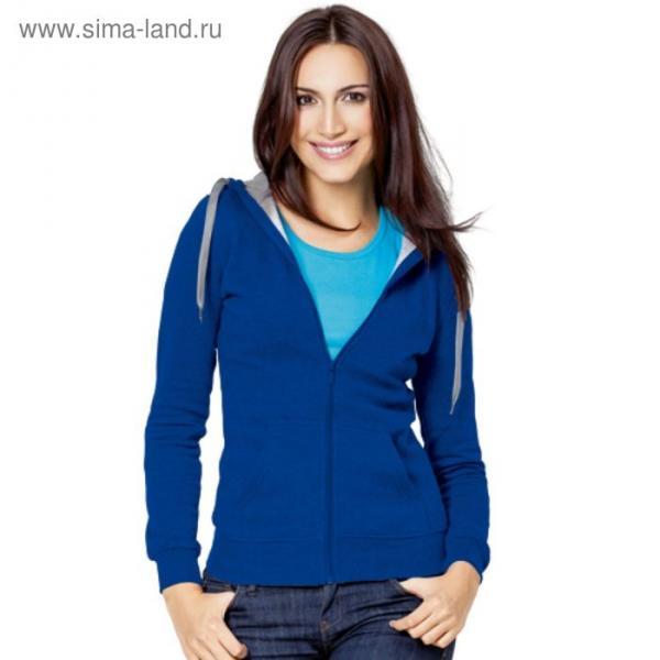 Толстовка женская StanStyle, размер 52, цвет синий-серый меланж 280 г/м