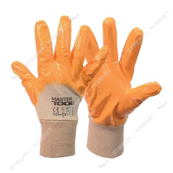 Перчатки MASTERTOOL 83-0405-S х/б трикотаж с неполным покрытием вязаный манжет желтые 8 48-50г