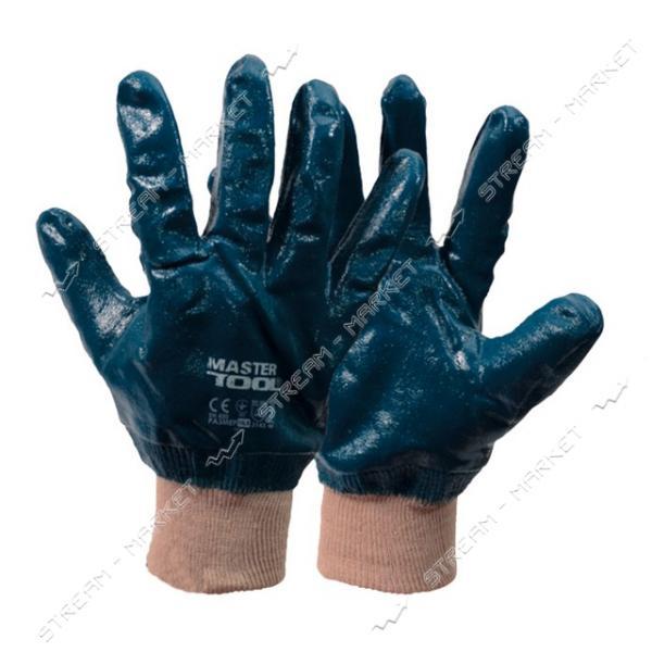 Перчатки MASTERTOOL 83-0406-В масло-бензостойкие утеплённые вязаный манжет синие 10.5